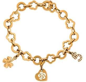 Chanel 18K Diamond Charm Bracelet