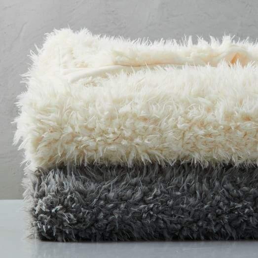 Faux Fur Sheepskin Throw