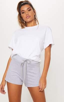 PrettyLittleThing Grey Drawstring Cotton Short