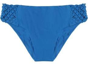 Mikoh Macramé-Paneled Low-Rise Bikini Briefs