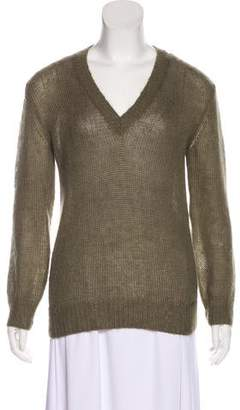 Gucci Mohair V-Neck Sweater