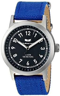 Vestal Unisex ABC3C01 Alpha Bravo Stainless Steel Watch with Blue Canvas Band