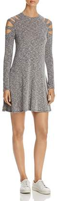 Elan Cold-Shoulder Space-Dye Dress $88 thestylecure.com