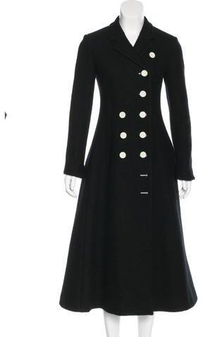 CelineCéline Wool Double-Breasted Coat w/ Tags