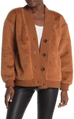 Bagatelle Faux Fur Cardigan