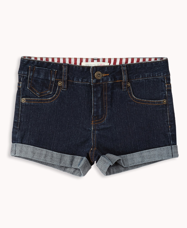 Forever 21 Classic Cuffed Denim Shorts (Kids)