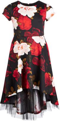 Bonnie Jean Toddler Girls Floral-Print Scuba Dress
