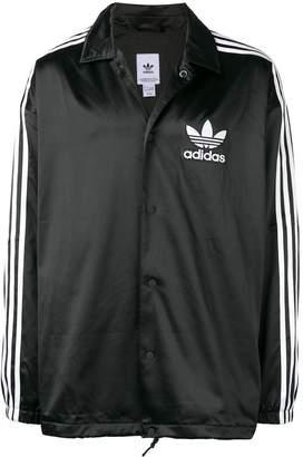 adidas contrast logo jacket