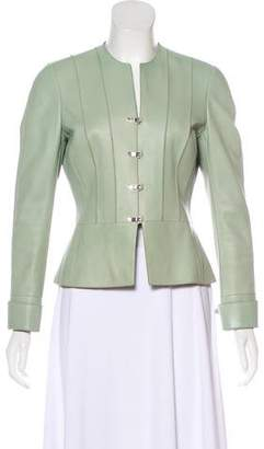 Akris Tailored Leather Jacket