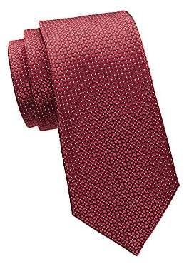 Ermenegildo Zegna Men's Neat Essential Woven Silk Tie