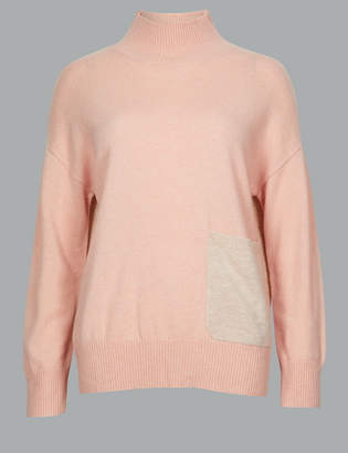 Marks and Spencer Pure Cashmere High Neck Jumper