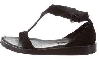Ann Demeulemeester Suede Ankle Strap Sandals