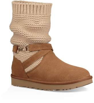 UGG UGGpure(TM) Strappy Purl Knit Bootie