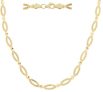 Lord & Taylor 14Kt. Yellow Gold Oval Link Necklace $2,500 thestylecure.com