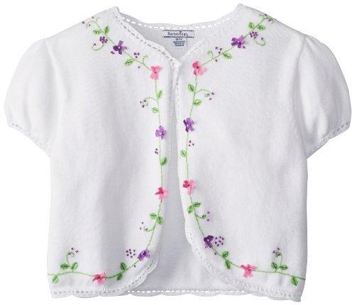 Hartstrings Big Girls' Floral Sweater Shrug