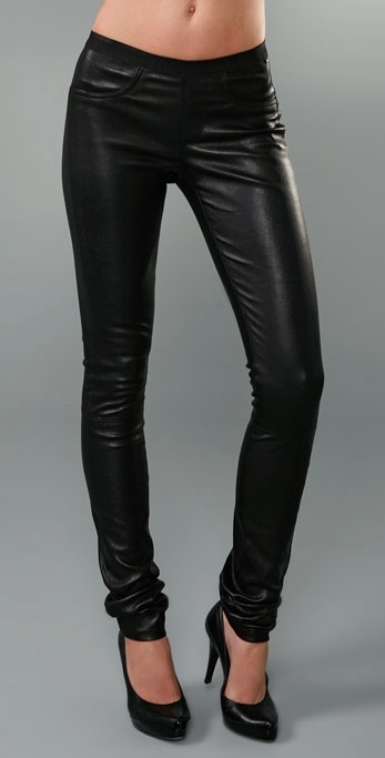 Helmut Lang Leather Skinny Pant