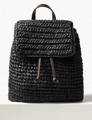 Marks and Spencer Straw Backpack Bag