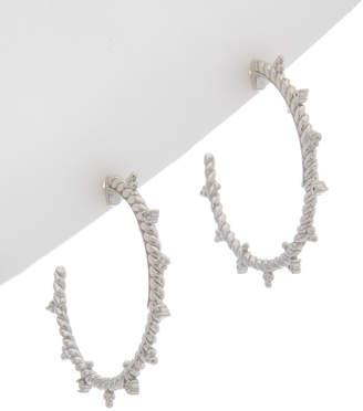 Judith Ripka La Petite Silver 0.10 Ct. Tw. White Topaz Hoops