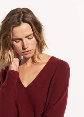 Cashmere Deep V-neck Raglan
