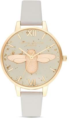 Olivia Burton Celestial 3-D Bee Motif Watch, 34mm