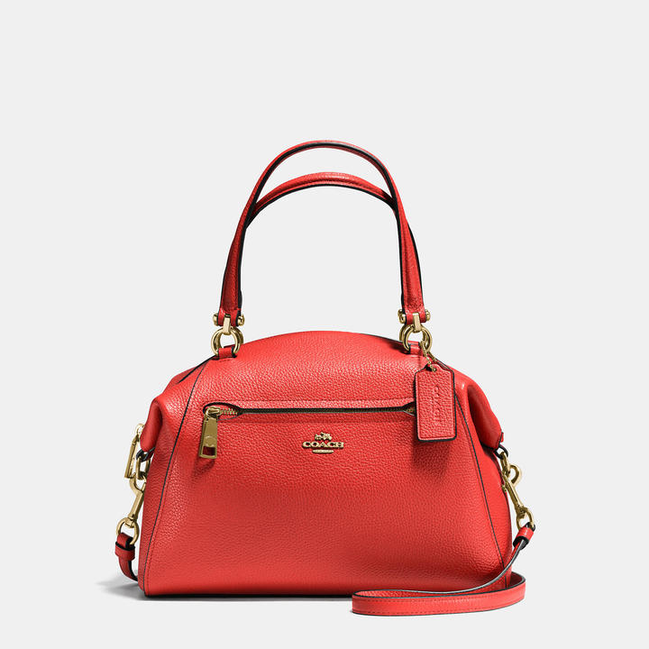 COACH Coach Prairie Satchel In Polished Pebble Leather