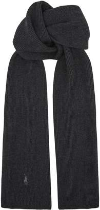 Polo Ralph Lauren Logo Merino Wool Scarf