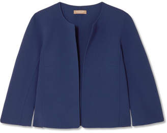 Michael Kors Cropped Wool-blend Crepe Jacket