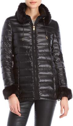 Via Spiga Faux Fur-Trimmed Jacket