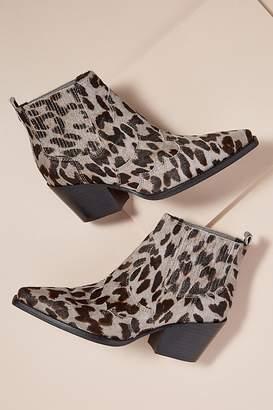 bcfd24be81df Sam Edelman Calf-Hair Leopard-Print Ankle Boots