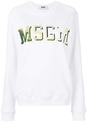 MSGM letterman logo sweatshirt