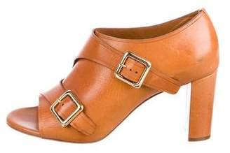 Chloé Leather Peep-Toe Booties