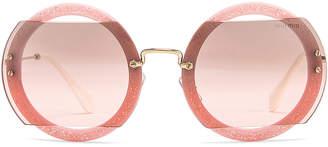 782674afc3 Miu Miu Glitter Square Sunglasses in Rose