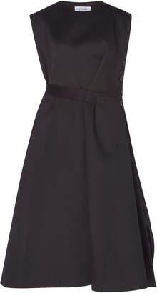 Dice Kayek Button Cotton Blend Dress