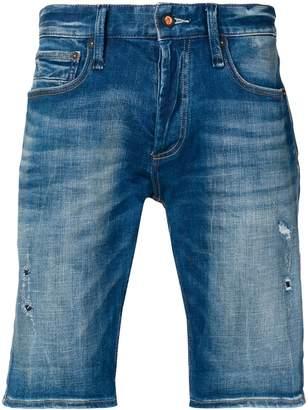 Denham Jeans Razor Car patch detail hoodie
