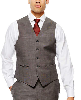 Claiborne Black & White Nailhead Suit Vest - Classic Fit