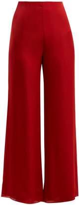 The Row Kiola silk-charmeuse wide-leg trousers
