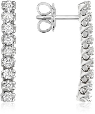 Forzieri 0.63 ctw Nine-Stone Drop Diamond 18K Gold Earrings