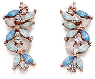 Fiorelli Costume Fashion Opal Pastel Flower Crawler Earrings