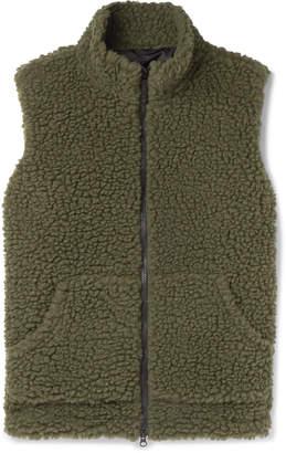 Aspesi Wool-Blend Fleece Gilet - Men - Green