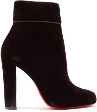 Christian Louboutin Moulamax 120 velvet boots