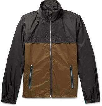 Prada Colour-Block Shell Hooded Jacket