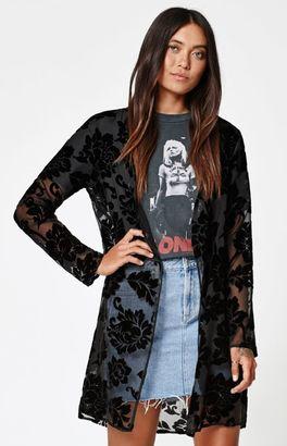 LA Hearts Burnout Maxi Kimono $44.95 thestylecure.com