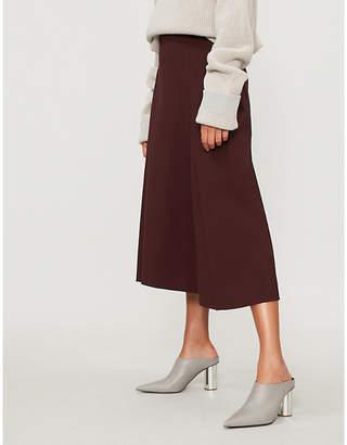 Sportmax Fiordi A-line wool-blend midi skirt