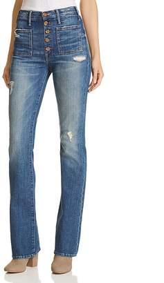 Mother The Hustler Patch Pocket Bootcut Jeans in Natural Born Hustler