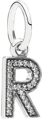 Pandora Silver Cz Dangle Letter R Charm