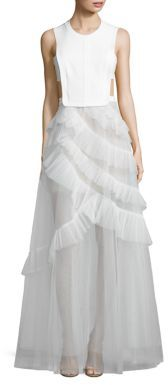 BCBGMAXAZRIA BCBGMAXAZRIA Avalon Open-Back Gown