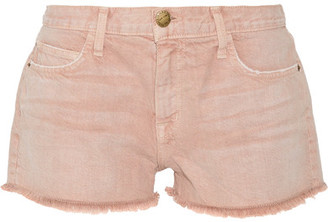 Current/Elliott - The Boyfriend Frayed Denim Shorts - Antique rose $180 thestylecure.com