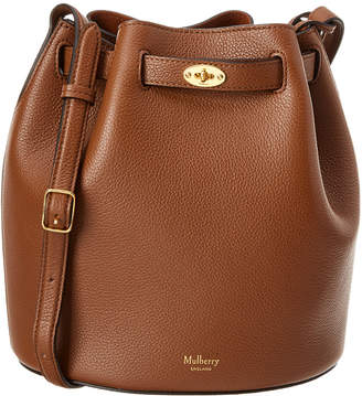 Mulberry Abbey Oak Small Classic Grain Leather Bucket Bag