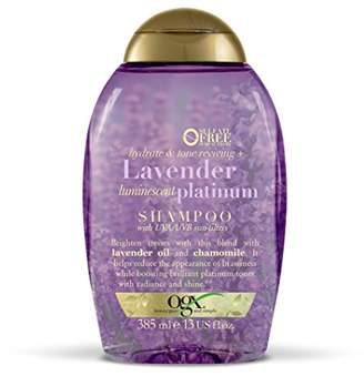 OGX Hydrate and Colour Reviving Plus Lavender Luminescent Platinum Shampoo, 385 ml