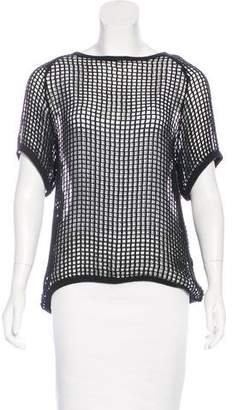 Isabel Marant Short Sleeve Open-Knit Top